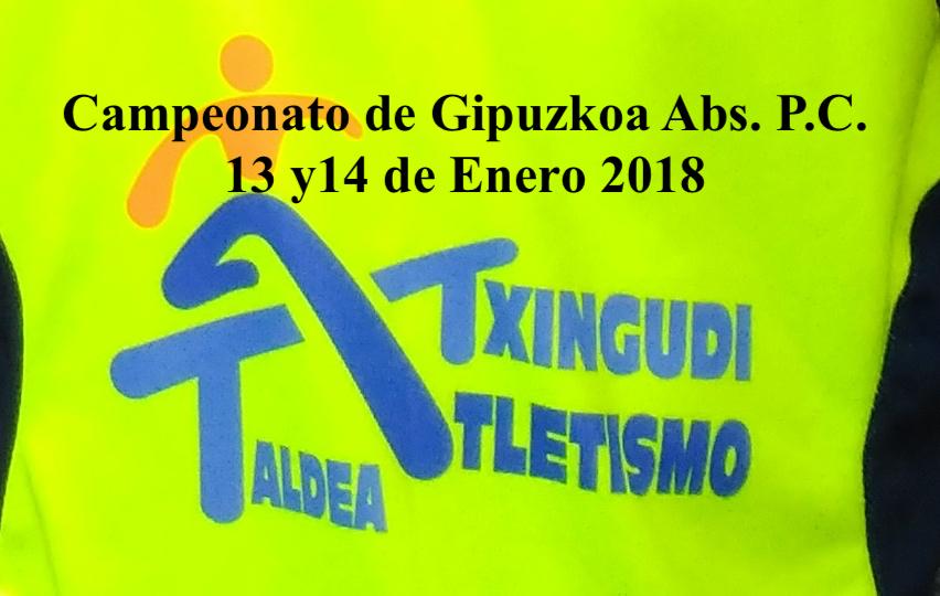 CAMPEONATO DE GIPUZKOA ABSOLUTO 2018 DE PISTA CUBIERTA